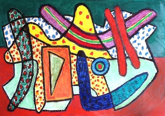 Boomerang - oilbar on paper - 57x81cm