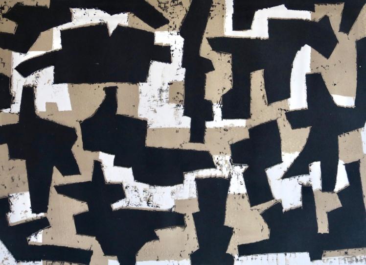 Corners - linocut - 29x40cm