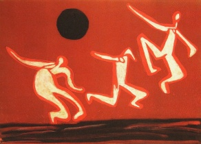 Dance - monoprint - 31x42cm