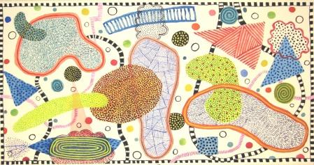 Dotty - gouache on paper - 40x76cm