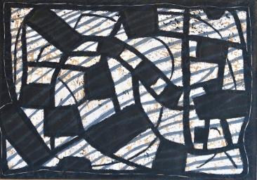 Grid - linocut - 29x40cm