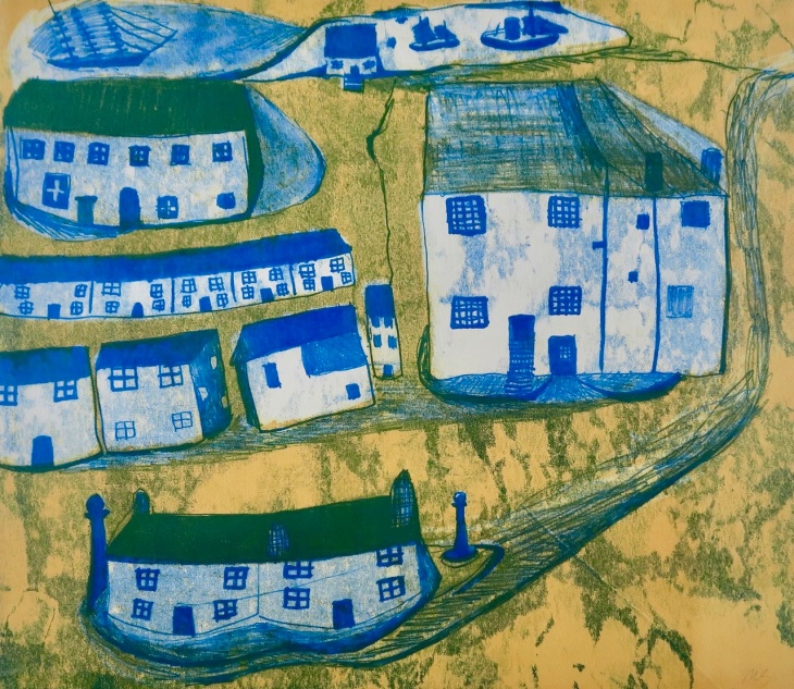 I Love Wallis - monoprint - 40x45cm