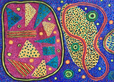 Bright 1 - gouache on paper - 31x42cm
