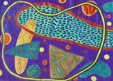 Bright 2 - gouache on paper - 31x42cm