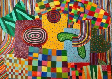 Patterns - oil on paper - 48x68cm