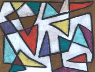 Triangles - chalk pastel on paper - 28x36cm