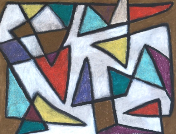 Triangles - chalk pastel on paper - 28x36cm