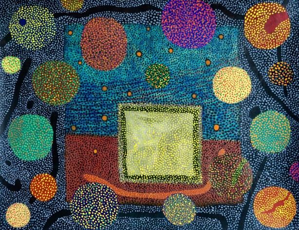 Fireworks - acrylic on paper - 28x36cm