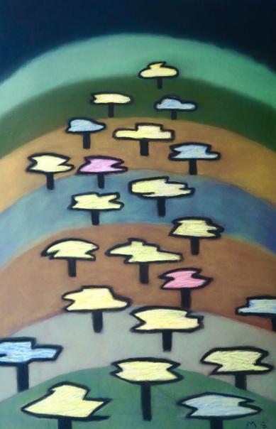 Just Trees - chalk pastel - 58x88cm