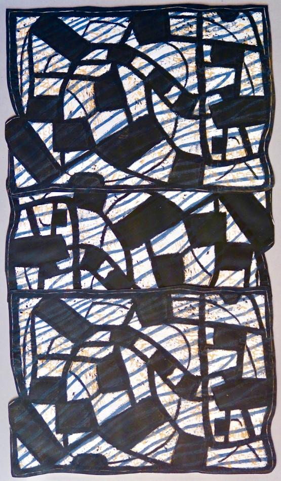 More Grid - linocut - 43x73cm
