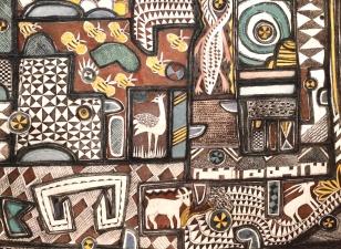 Patchwork 2 - collagraph, watercolour - 40x53cm
