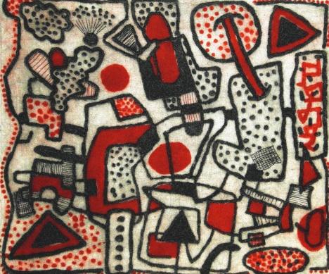 Red and Black 2 - drypoint, carborundum - 30x35cm