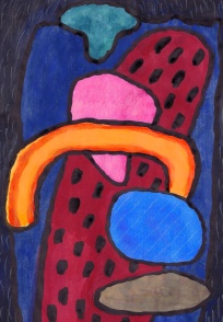 Rain Clouds - gouache, ink on paper - 29x21cm