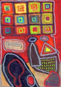 Twelve Squares - gouache on paper - 29x21cm