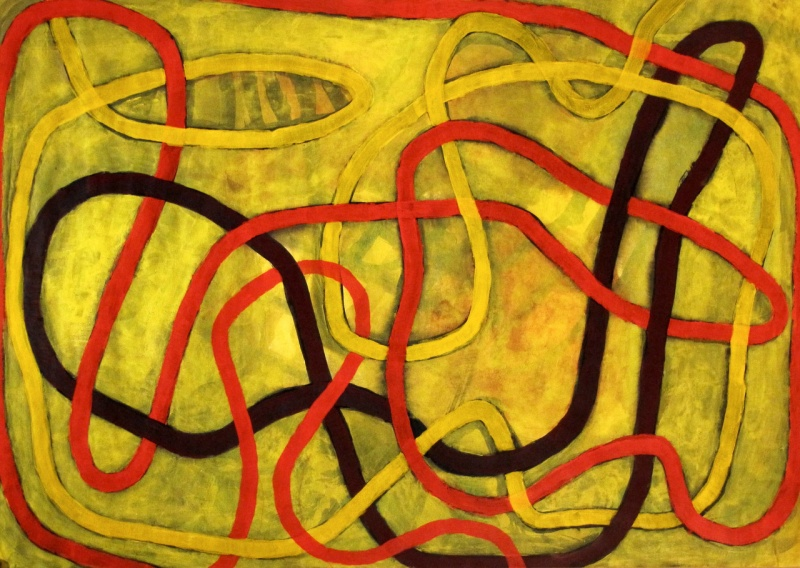 Weave - acrylic on paper - 42x59cm