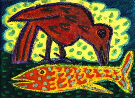 Fish and Bird - oil