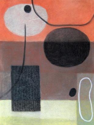 Near Circles - chalk pastel
