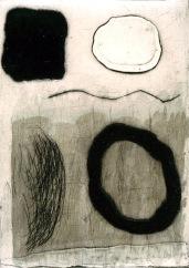 Sepia - collagraph, chine colle