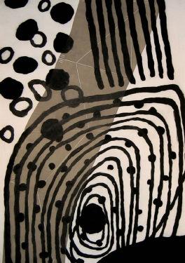 Trio 3 - drypoint, carborundum, linocut