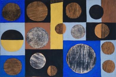 Circles_drypoint_carborundum_hand colouring_33x46cm