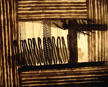 Framed 1_collagraph_chine colle_40x49cm