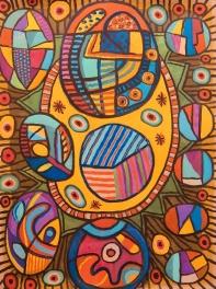 Happy Feeling - gouache - 72 x 54 cm