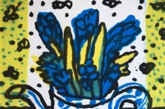 Hyacinths - carborundum - 30 x 42 cm