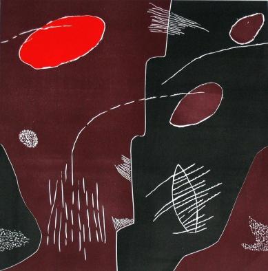Little Lino Red_linocut_30x30cm
